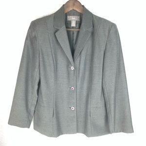 Norton Petite 3 Button Long Sleeve Blazer 12P